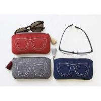 Buy cheap Promotional Hot Stamping Custom Logo Glasses Bags Black Microfiber Felt Sunglasses Pouch from wholesalers