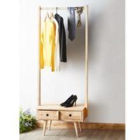 Buy cheap Garment Rack Contemporary Wooden Tall Clothes Rack With Drawer from wholesalers