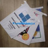 Buy cheap White T Shirt Bag white kraft paper bag sew stitch-easy open from wholesalers