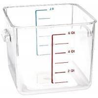 Buy cheap Rubbermaid Commercial Carb-X Space Saving Square Food Storage Container, 6-Quart, Clear, FG630600CLR from wholesalers