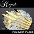 set of cutlery stainless steel 18/10,cutlery set,gold cutlery set