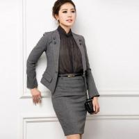 Buy cheap Women Skirt Suit Office Lady Formal Suit Business Suits For Women Dress Suit from wholesalers