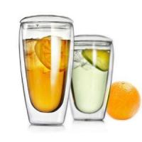 Buy cheap 2017 Hot New Products Promotional Christmas Gift Double Wall Borosilicate Pyrex Glass Coffee Espress from wholesalers