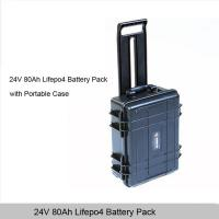 Buy cheap 24V 80Ah Lifepo4 Battery Pack with portable waterproof case from wholesalers