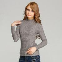 Buy cheap Elastic Bodycon Knitted Pullover Sweater Angora Like Warm Ribbed Knitwear for Women product