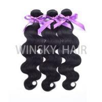 Buy cheap #1 Black 7A Unprocessed Virgin Brazilian Body Wave 3 Bundles Human Hair Extensions product