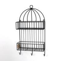 Buy cheap Metal Wall Mounted Storage Rack 2 Tiers for indoor decoration from wholesalers