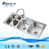 Buy cheap Glass Panel Kitchen Sink Series Triple bowl stainless steel sink from wholesalers
