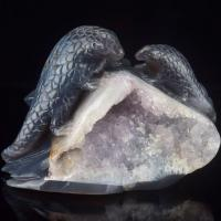 Buy cheap 6 Inch Natural Carved Agate Geode Otter Figurines Animals Figurines from wholesalers