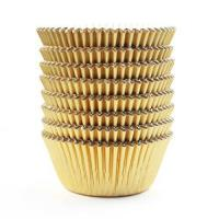 Buy cheap Eoonfirst Gold Foil Metallic Cupcake Case Liners Baking Muffin Paper Cases 198 Pcs from wholesalers
