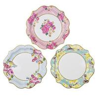 Buy cheap Talking Tables Truly Scrumptious Floral Plates for a Tea Party, Wedding, Multicolor (12 Pack) from wholesalers
