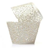Buy cheap Pixnor 50pcs Cupcake Wrappers Wraps Cases Wedding Birthday Decorations Golden from wholesalers