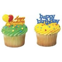 Buy cheap Happy Birthday Cupcake Picks (24-Pack) from wholesalers