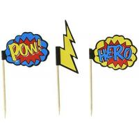 Buy cheap Ginger Ray Comic Superhero Pow & Hero Party Cupcake Picks (20 Pack), Mixed from wholesalers