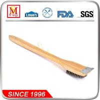 Buy cheap Wood Handle Stainless Bristle Grill Cleaning Brush from wholesalers