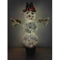 Buy cheap Item  SYT46F060A/ 4.5FT Fiber Optic Pre-lit Snowman from wholesalers