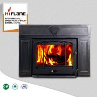 Buy cheap HiFlame Over 20KW Large Fireplace Frame Steel Body Cast Iron Fireplace Insert HF577IU3 from wholesalers