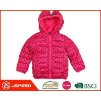 China Cute Printed Girls Hooded Quilted Jacket Made in China on sale