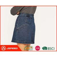 Buy cheap OEM Ladies Mid Waist Denim Skirts with Stud Embellished Pockets Are Welcome for Woman from wholesalers