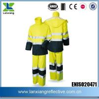 Buy cheap 300D Oxford Orange Workplace Safety High Quanlity Reflective Tape Logo Waterproof Raincoat from wholesalers