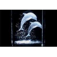 Buy cheap 3d Laser Dolphin Crystal Cubes Gifts from wholesalers