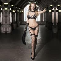 Buy cheap Black Lace Strappy Bra Set from wholesalers