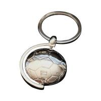Buy cheap Promotional 3D Football Rotatable Metal Keychain from wholesalers