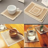 Buy cheap 16''*16'' Hessian Placemats Jute Burlap Table Mats Sqaures 12Pack from wholesalers