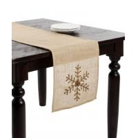 Buy cheap Natural Jute Table Cloth Hessian Burlap Table Runners with Overlock 35cm*5Y from wholesalers