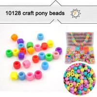 Buy cheap 9x6mm Opaque Pony Beads Bulk for Arts and Crafts product