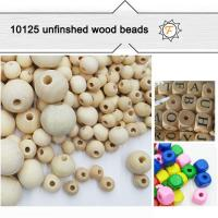 Buy cheap 6mm-25mm Round Natural Unpainted Wooden Beads Bulk for Arts and Crafts product