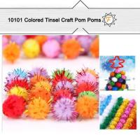 "Buy cheap glitter sparkle pom poms 1"" colored for arts and crafts kids product"