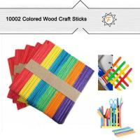 Buy cheap 114mm Colored Wooden Popsicle Sticks and Lollipop Sticks for Craft Idea for Kids product