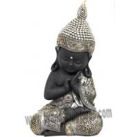 China Modern Reposed Figure Brass Statue Buddha Bust for Temple Decor on sale