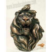 Buy cheap Huge Roaring Fiberglass Lion Statue Head as Home Ornament from wholesalers