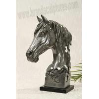 Buy cheap Large Life-size Fiberglass Horse Animal Sculpture as Home Ornament from wholesalers
