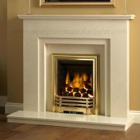 Buy cheap Carved Hunan White Marble Stone Fireplace from wholesalers