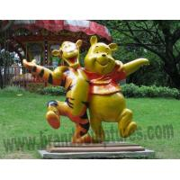 Buy cheap Huge Varnished Teenie Weenie and Tigger Fiberglass Statues from wholesalers