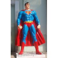 Buy cheap Huge Painted Fiberglass Hero Superman Statue as Fairground Decoration from wholesalers