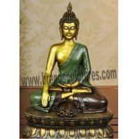 China Exterior Artist Serene Bronze Buddha Statue as Holiday Ornaments on sale