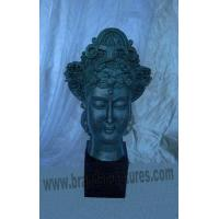 Buy cheap Outer Brass Head Buddha Sculpture as Garden Statues from wholesalers
