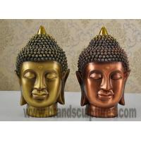 Buy cheap Large Modern Brass Statue Buddha Head for Temple Decor from wholesalers
