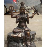 China Sacred Brass Big Buddha Statue as Holiday Ornament on sale