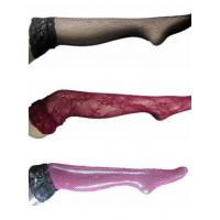 Buy cheap Thigh High Sheer Fishnet Wide Silicon Anti-Slip Lace Sexy Stockings from wholesalers