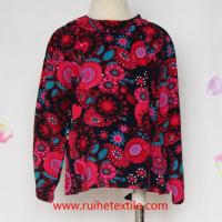 Long Sleeve Loose Blouse Cute Pretty Floral Blouse for Girls