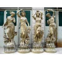 Buy cheap Outdoor Landscape Bronze Casted Figure Statues as Garden Decoration from wholesalers