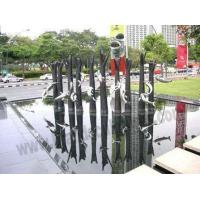 Buy cheap Large Fish Stainless Steel Garden Water Fountains Sculptures from wholesalers