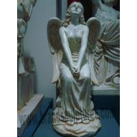 Buy cheap Garden Design Cute Fiberglass Angel Figure Statues from wholesalers