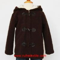 Buy cheap Fluffy Fleece Baby Boy Coat Winter Hooded Jacket for Children from wholesalers