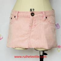 Fashion Cotton Corduroy Fitted Mini Skirt for Women